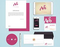 Miss Médias Sociaux - Logo and business card design