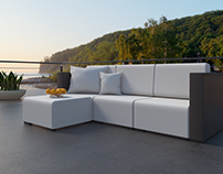 3D visualization - Outdoor Fabric & Furniture