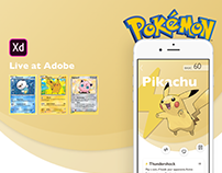 Adobe XD Live : Pokemon Card Trading App