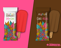 Anjuna ice cream logo and packaging design
