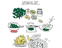 Line drawings | Recipe Illustrations
