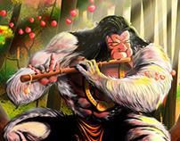 Hanuman Digital Painting
