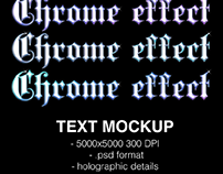 Chrome text mockup - Download
