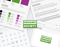 The Organic Society Brand Style UI Kit