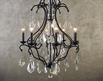 Pottery Barn Ruby Crystal Chandelier