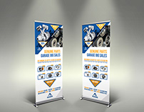Auto Parts Signage Roll-Up Banner Template
