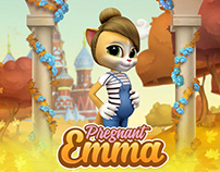 Pregnant Talking Cat Emma