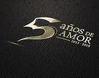 """Logotipo conmemorativo """"5 Años de Amor"""""""