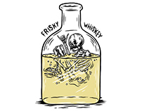 Frisky Whiskey Illustration