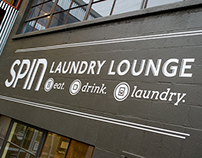 Spin Laundry Lounge - Exterior/Interior Signage