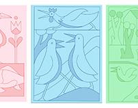 4 colour riso print sketches