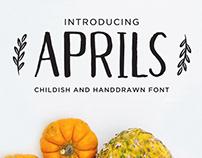 Free* Aprils Hand Drawn Font