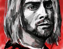 digital sketch #2 Kurt Cobain