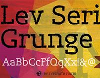 Lev Serif Grunge - Free Font