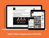 West Ham Shonsorship Minisite