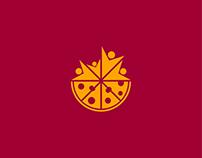 Family Pizza Logo Template