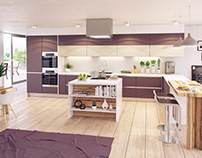 Modern Kitchen - 3D visualizations