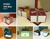 Arabic Gift Box Mockup