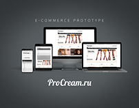 2014 ProCream.ru E-commerce Prototype