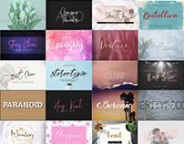 The Cyclopean Fonts Bundle: 91 Font Families