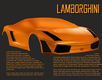 WIP Lamborghini Digital Painting & Magazine Spread