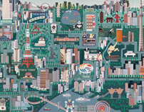 Illustrated Map of Tokyo