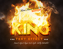 Fire Text Effects