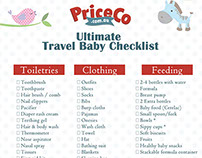 PriceCo Travel Baby Checklist