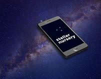 Stellar nursery - stars generator app concept