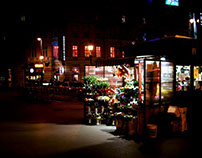 Night-time flower shopping