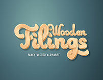 Wooden Filings Alphabet