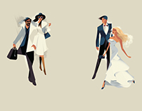Harrods - Fashion Illustrations