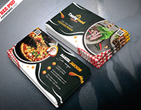 Tasty Food Restaurant Business Card PSD