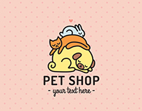 Pet shop vector logos and business cards