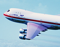 Boeing 747-121 CAD Sculpting and Rendering Exercise