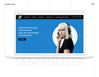 UX / UI Website Concept Redesign for Sennheiser