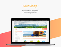 Sun shop/E-commerce template/Web design/UI/UX