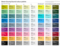 Devon County Council extended colour palette