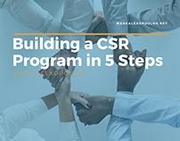 Building a CSR Program in 5 Steps