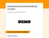 Encuestas Satisfacción Cliente Online - ejemplos