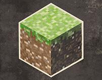Minecraft Grass Block Art