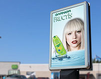 Mock Up of a promotional Poster for a Shampoo Product