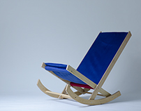 Plywood rocking armchair