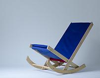 Plywood rocking armchair