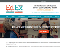 EdEx MENA - Education Conference - Website Design