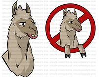 ANIMALS / LLAMAS CARTOON style
