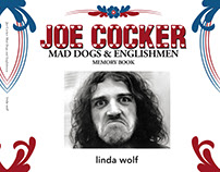 Joe Cocker photography book by Linda Wolf cover design