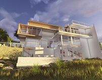 Proposed Split Level House in Haragama, SL - 3D Images