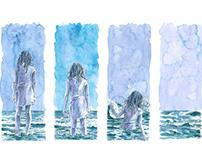 """Ilustração """"A boneca de sal - a história do nosso mar"""""""