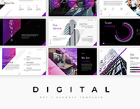 Digital - template presentation PowerPoint + Keynote